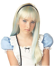Kids Blonde and Blue Alice Wig