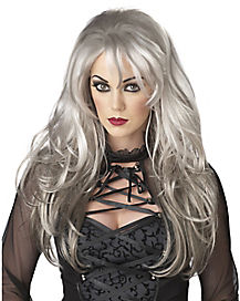 Fallen Angel Gray Adult Wig
