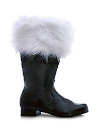 Santa Adult Men's Black Boots