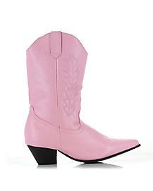 Kids Pink Cowboy Boots
