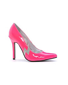 Pink Pump with Silver Lightning Bolt Adult Women's Shoes