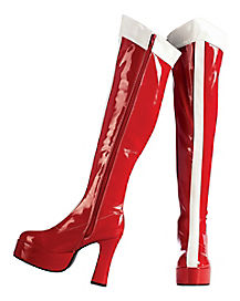 Wonder Woman Red & White Women's Boots