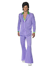 Adult Lavender 70s Suit Costume