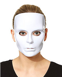 Blank White Face Female Mask