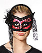 Pink and Black Burlesque Mask