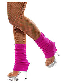 Neon Hot Pink Adult Leg Warmers