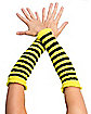 Bee Yellow & Black Arm Warmers