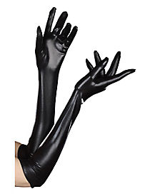 Long Black Dominique Gloves