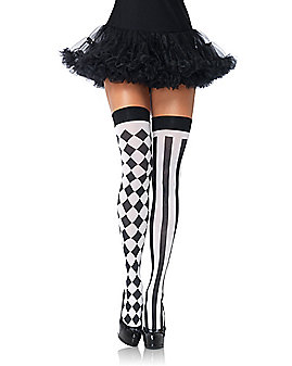 Leg Avenue Harlequin Thigh Highs Stockings