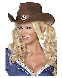 Wild West Adult's Brown Cowboy Hat