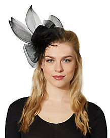 Black Mini Top Hat Fascinator
