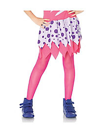 Kids Bright Pink Fishnet Tights