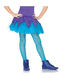 Blue Fishnets Kids Tights