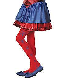 Kids Spidergirl Tights - Spiderman