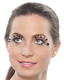 Black Spotted Feather False Eyelashes