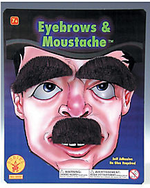 Black Eyebrow and Mustache Set