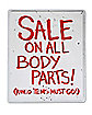 19 Inch Sale Body Parts Sign - Decorations