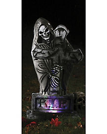 1.5 Ft LED Bone Rest Tombstone - Decorations