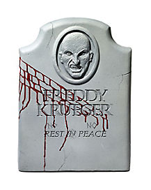 2.5 Ft Freddy Krueger Tombstone Decorations - Nightmare on Elm Street