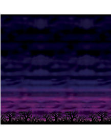 4 ft Spooky Sky Backdrop - Decorations