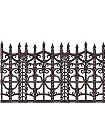 2 ft Creepy Fence Border - Decorations
