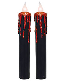 Black Candles with Blood Drips