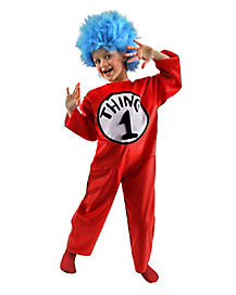 Kids Cat in the Hat Thing 1 Costume - Dr Seuss