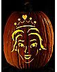 Easy I'm a Princess Pumpkin Carving Tattoo