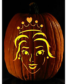 Easy I'm a Princess Pumpkin Carving Tattoo