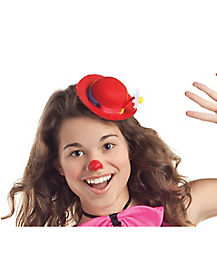 Red Clown Mini Hat Fascinator