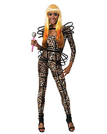 Adult Leopard Catsuit Costume - Nicki Minaj