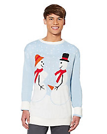 Snow Couple Ugly Christmas Sweater