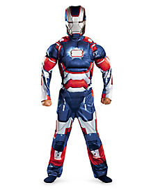 Kids Muscle Iron Patriot Costume - Iron Man 3