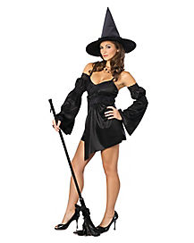 Adult Womens Black Cauldron Witch Costume