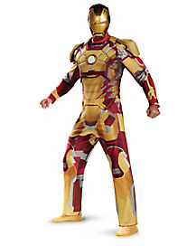 Iron Man Deluxe Adult Mens Plus Size Costume