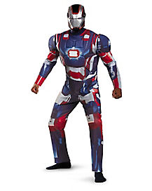 Iron Man 3 Patriot Deluxe Adult Mens Plus Size Costume