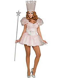 Wizard Of Oz Glinda Witch Short Dress Adult Womens Costume