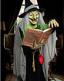 5.8 ft Spell Speaking Witch Animatronics