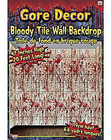 Gore Bloody Tile Wall Décor - Decorations