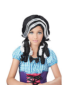 Black and White Doll Wig