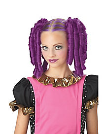 Anime Purple Curls Wig with Hairscara
