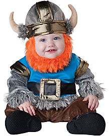 Lil Viking Baby Costume With Faux Fur