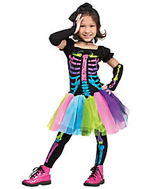 Toddler Funky Punk Skeleton Costume