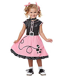 Toddler Poodle Cutie 50s Costume