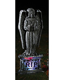 Light-Up Skeleton Angel Tombstone