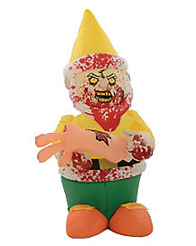 Yellow Zombie Gnome Inflatable
