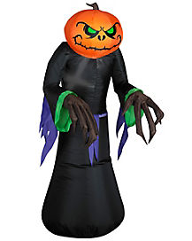 Pumpkin Reaper Kid Airblown Inflatable