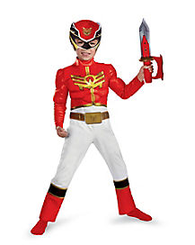 Toddler Muscle Red Ranger Costume - Power Rangers Megaforce