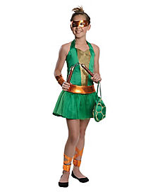 Tween Michelangelo Dress Costume - Teenage Mutant Ninja Turtles