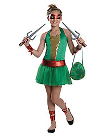 Tween Raphael Dress Costume - Teenage Mutant Ninja Turtles
